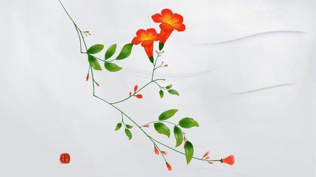 花植物イラストキャンプ イラスト素材