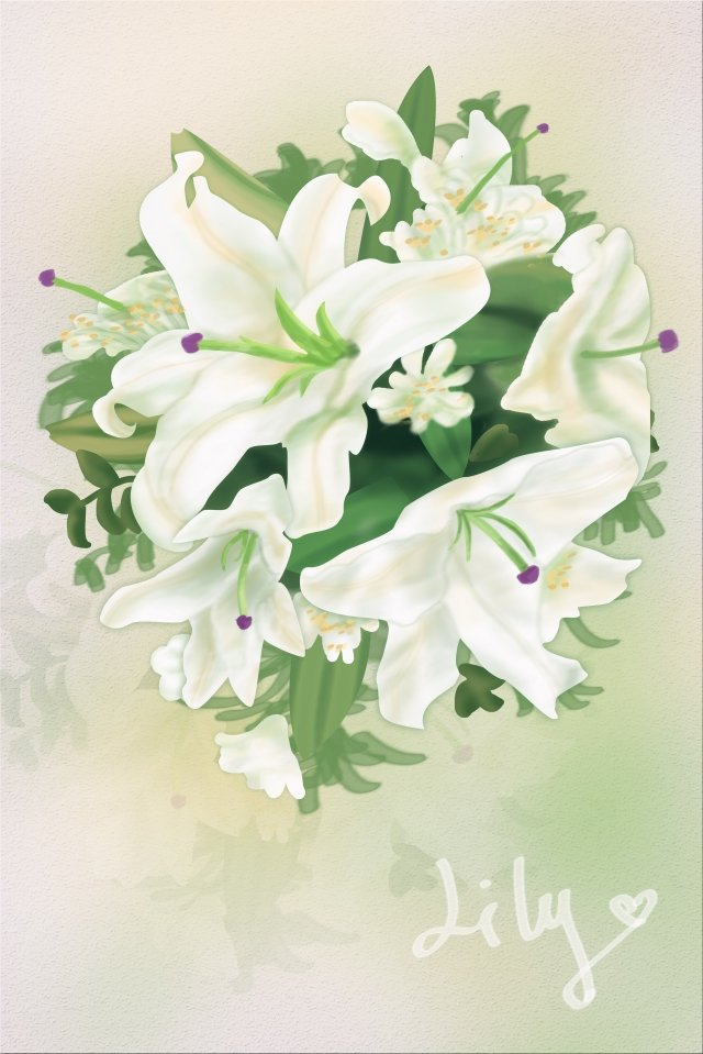 flowers plant lily flower, Qixi Festival, Valentines Day, Bouquet illustration image