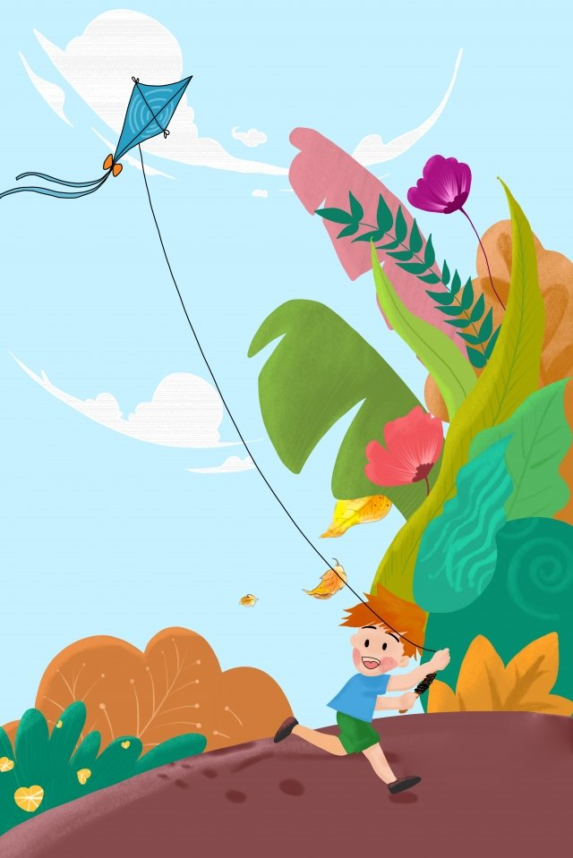 fly a kite autumn tour autumn plant autumnal, Fall, Autumn, Autumn Season illustration image