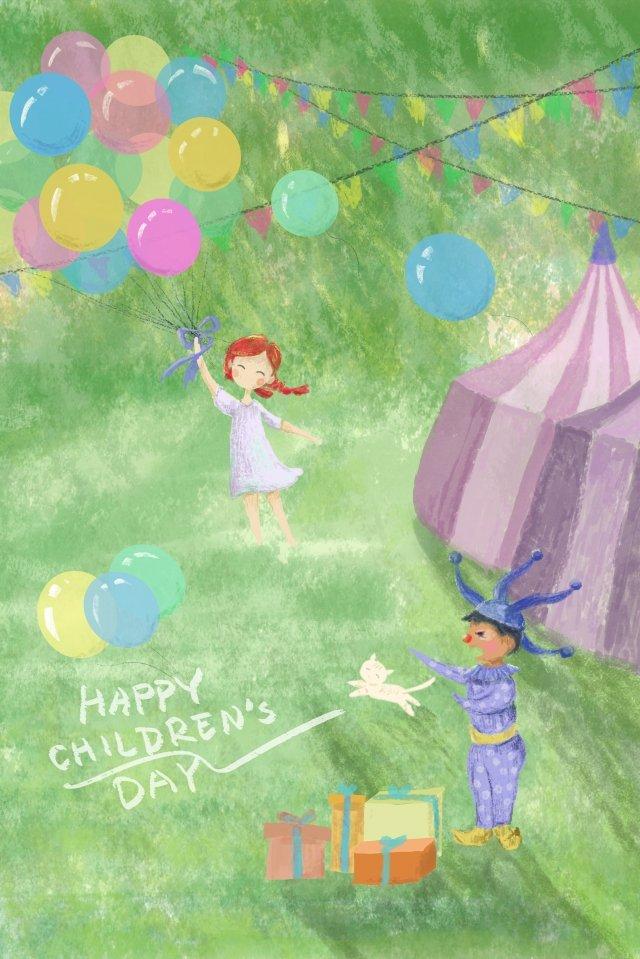 mouche ballon enfants jour peint à la main image d'llustration