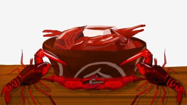 음식 가재 음식 맛있는 삽화 소재 삽화 이미지