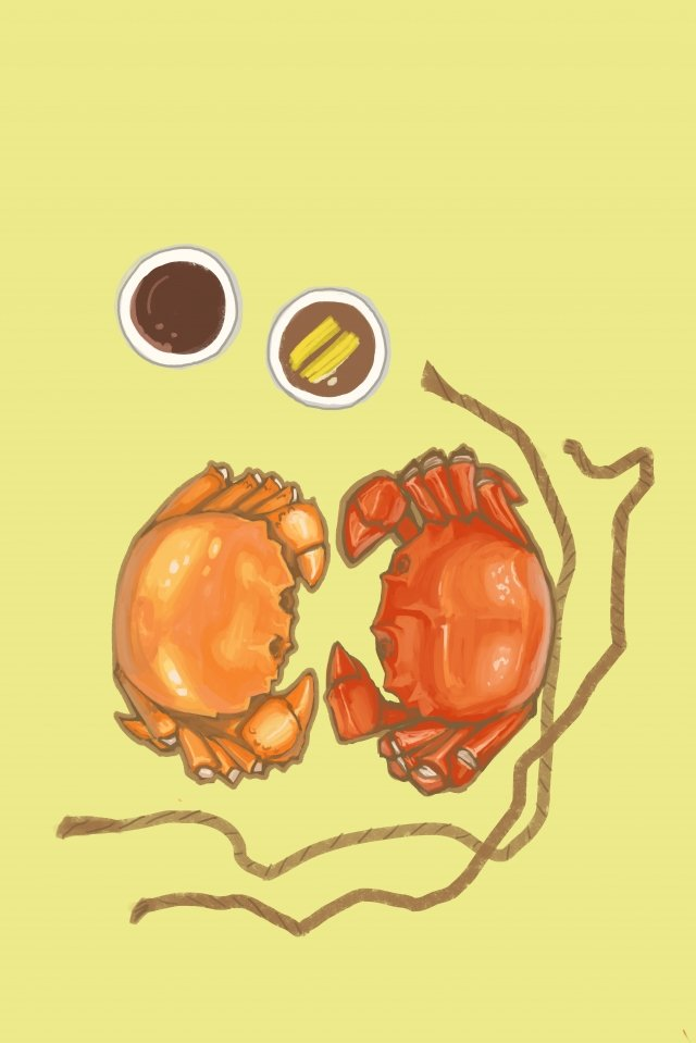 food delicious hairy crab food, Eat, Crabs, Again illustration image