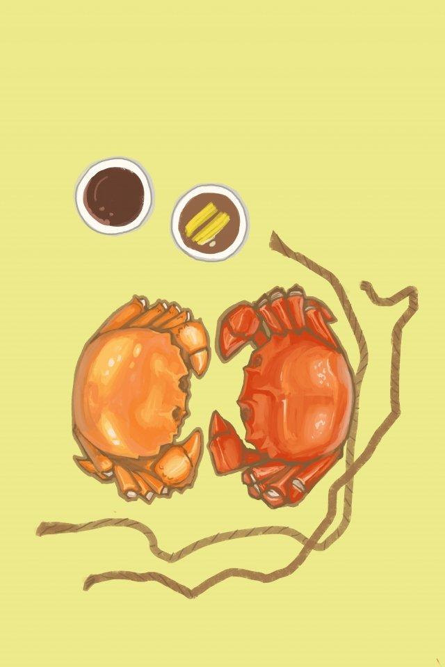 음식 맛있는 털이 크랩 음식 그림 이미지