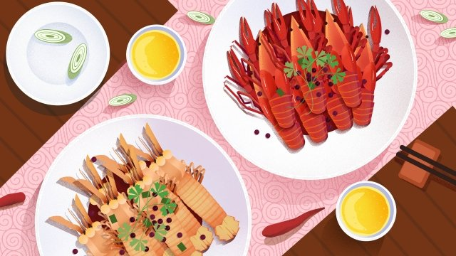 food food cuisine illustration, Crayfish, Fast Food, Chinese Cuisine illustration image