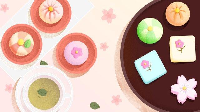 food food illustration hand painted, Japanese-style, Japan, Dessert illustration image