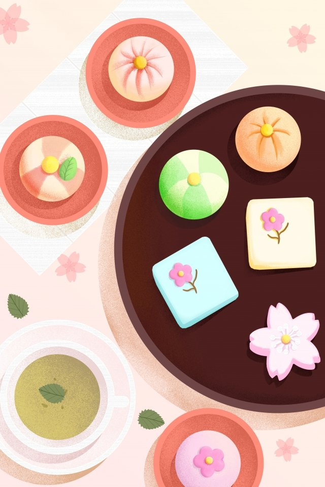 food food illustration hand painted, Japanese-style, Japan, Dessert illustration image