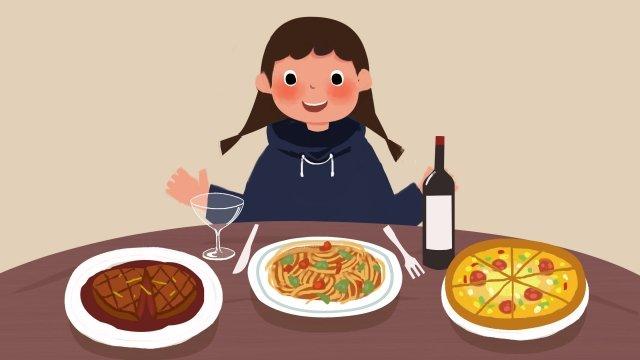 食品食品食事ダイニングテーブル イラスト素材 イラスト画像