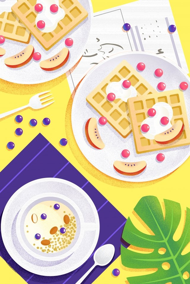 food illustration hand painted food, Western Style, Dessert, Baking illustration image