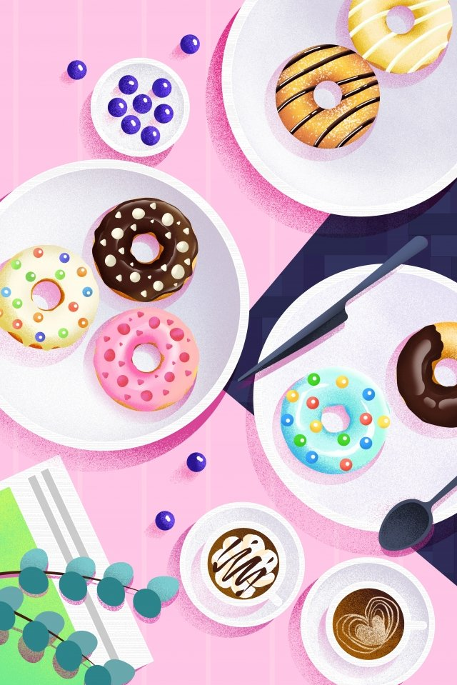 food illustration hand painted food, Western Style, Dessert, Cake illustration image