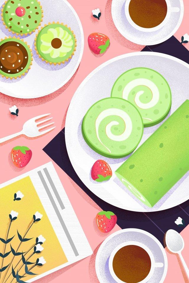 음식 그림 손으로 그린 음식 삽화 소재