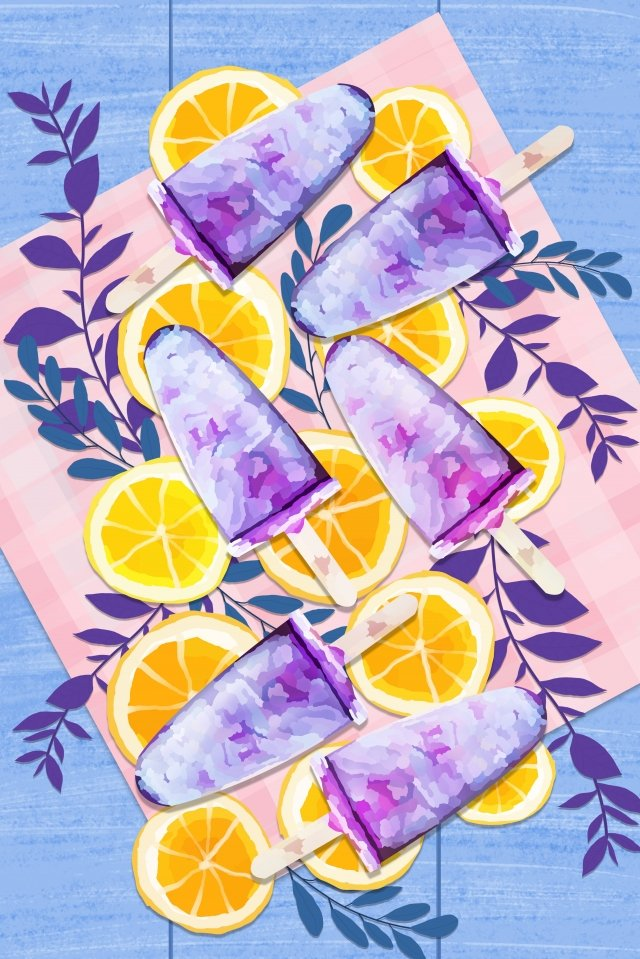 food popsicle lemon cool, Summer, Ice Cream, Cold illustration image