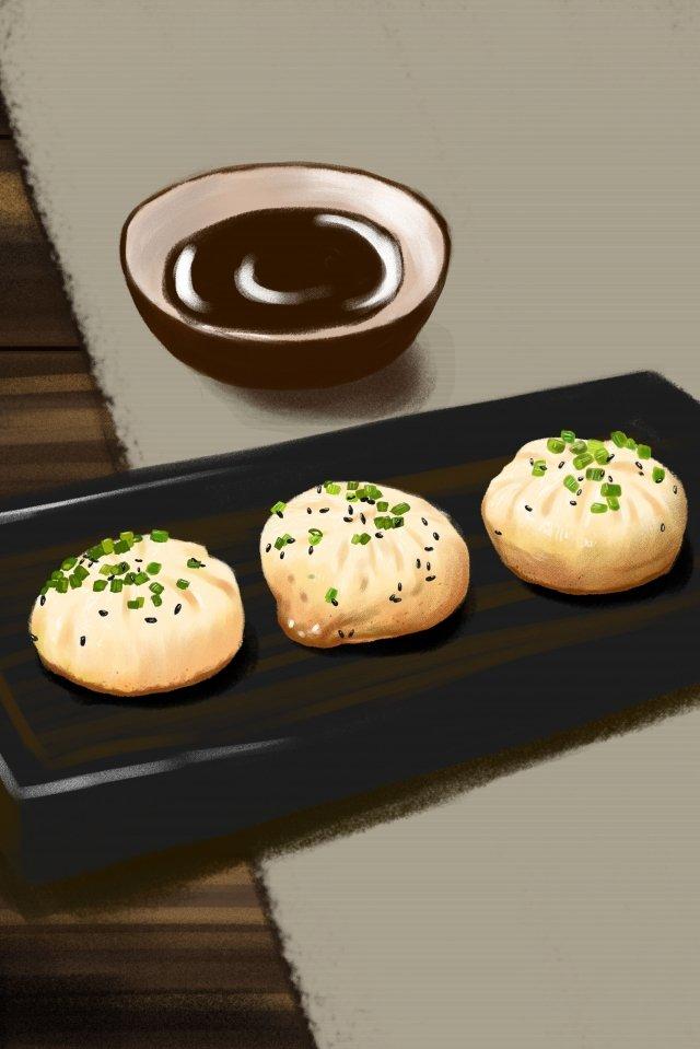 음식 스낵 튀김 가방 식초 삽화 소재