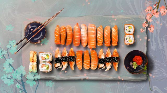 food sushi japan warm color llustration image illustration image