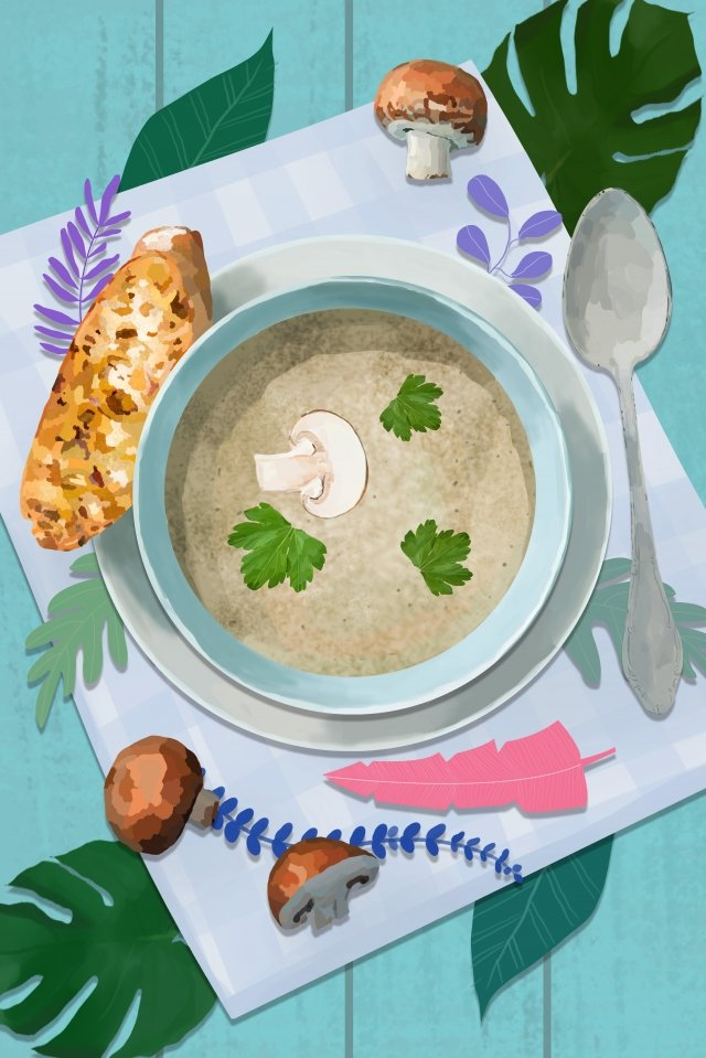 food western style soup western style soup llustration image