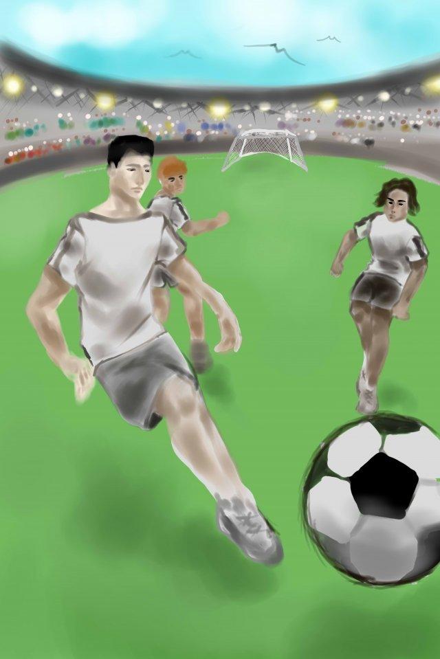 football athlete stadium game, Audience, Light, Sky illustration image