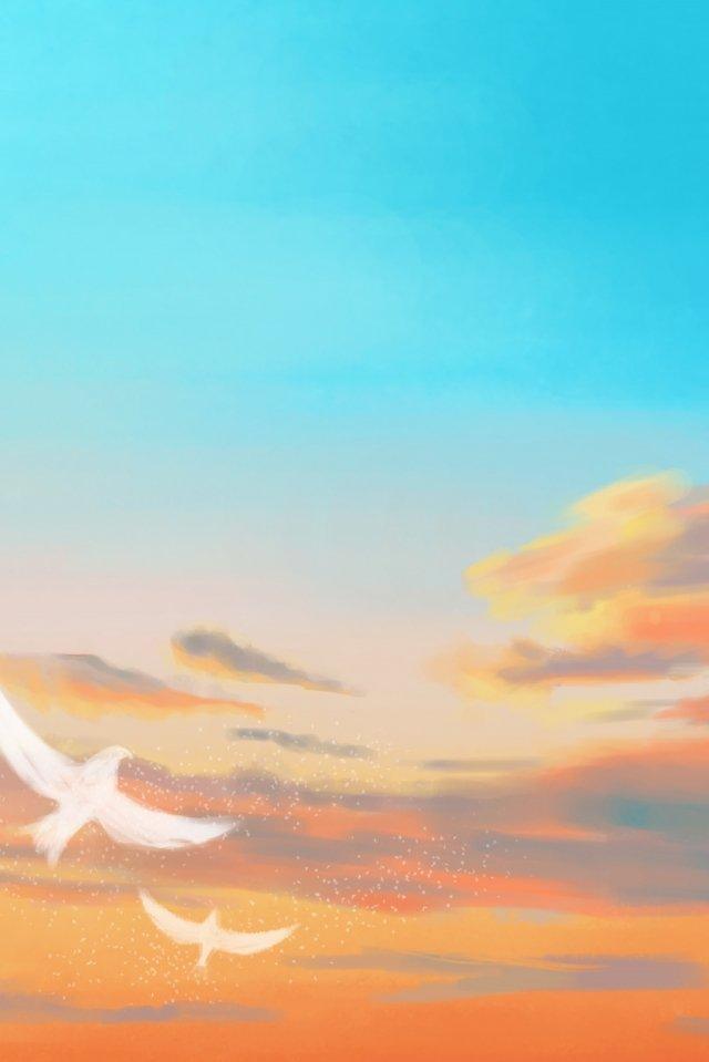 新鮮な明るい暖かい雲 イラスト素材