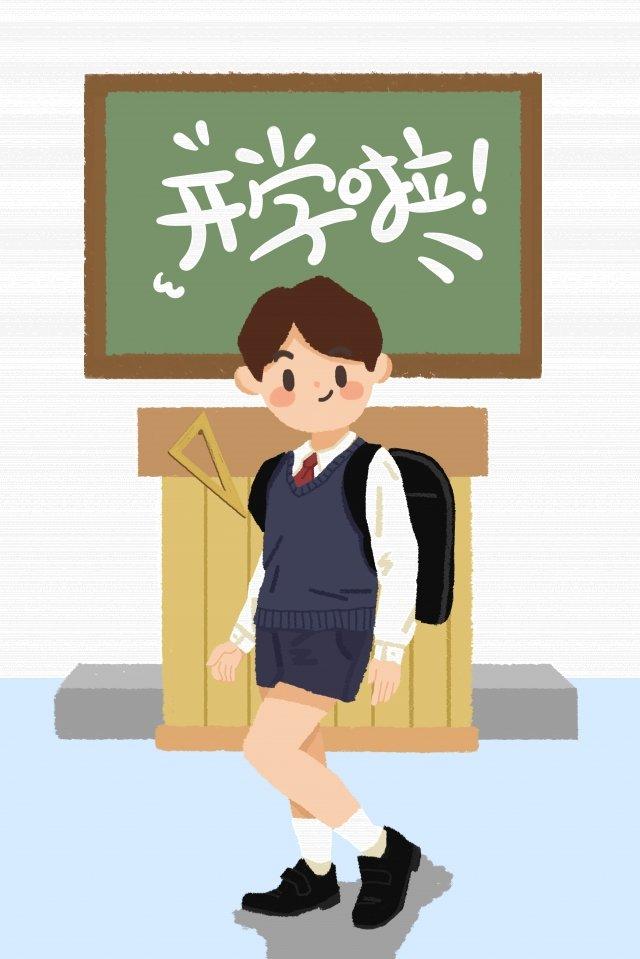 fresh simple student starting school llustration image illustration image