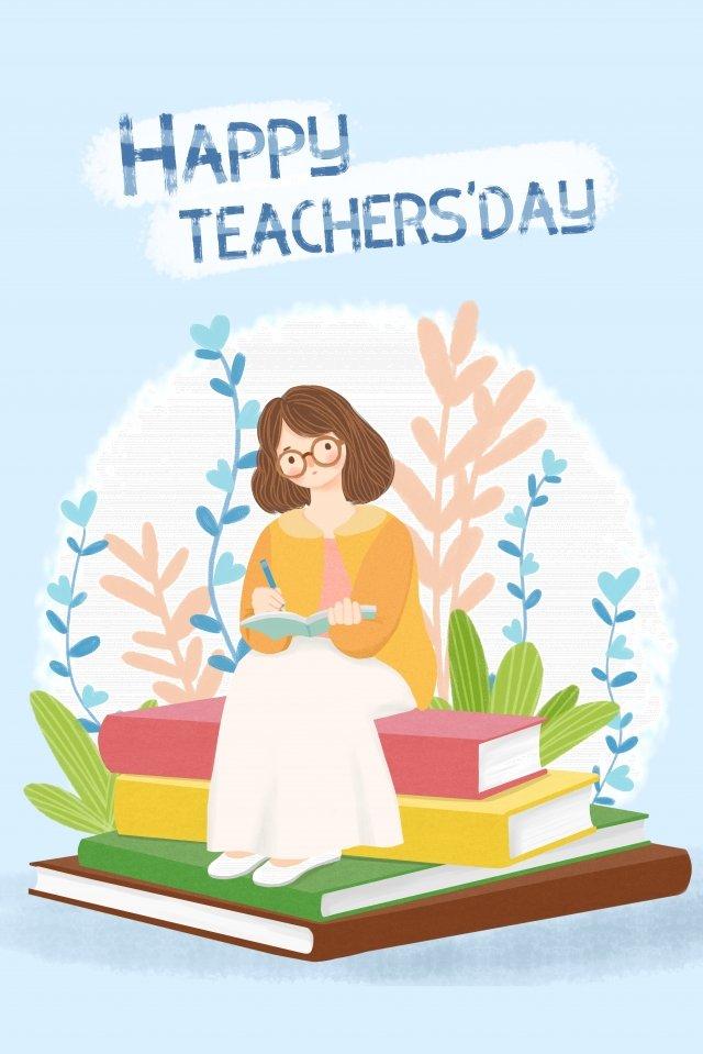 ताजा शिक्षक दिवस शिक्षक कड़ी मेहनत करते हैं चित्रण छवि