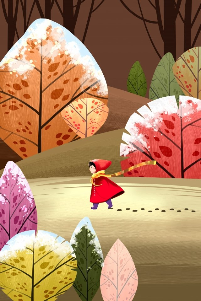 frost drop solar terms twenty-four solar terms first frost, Frost, Red Leaf, Frost Scene illustration image