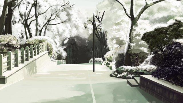 フロストドロップ二十四太陽条件冬白い雪 イラスト素材
