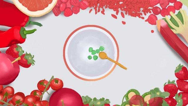 水果甜點食品板 插畫素材