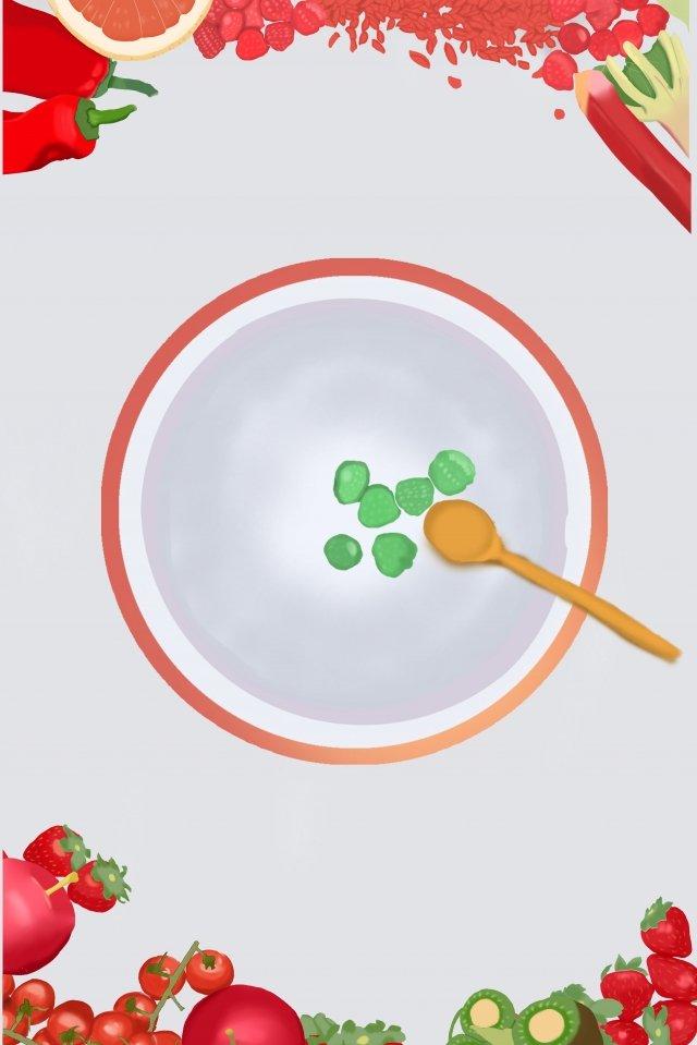 水果甜點食品板 插畫圖片