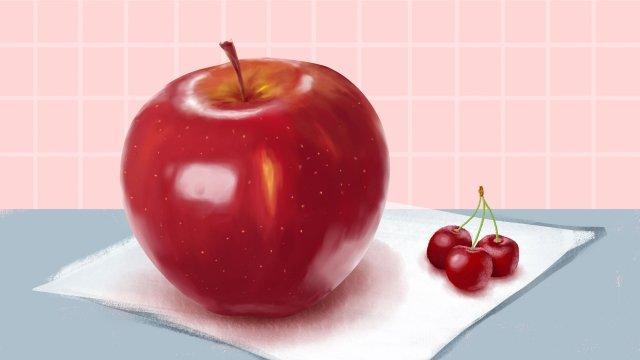 fruit illustration apple cherry llustration image illustration image