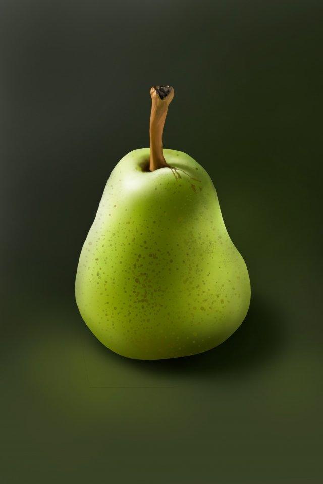 水果梨脆梨綠梨 插畫素材