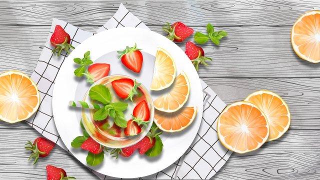 fruit strawberry orange fruit llustration image illustration image