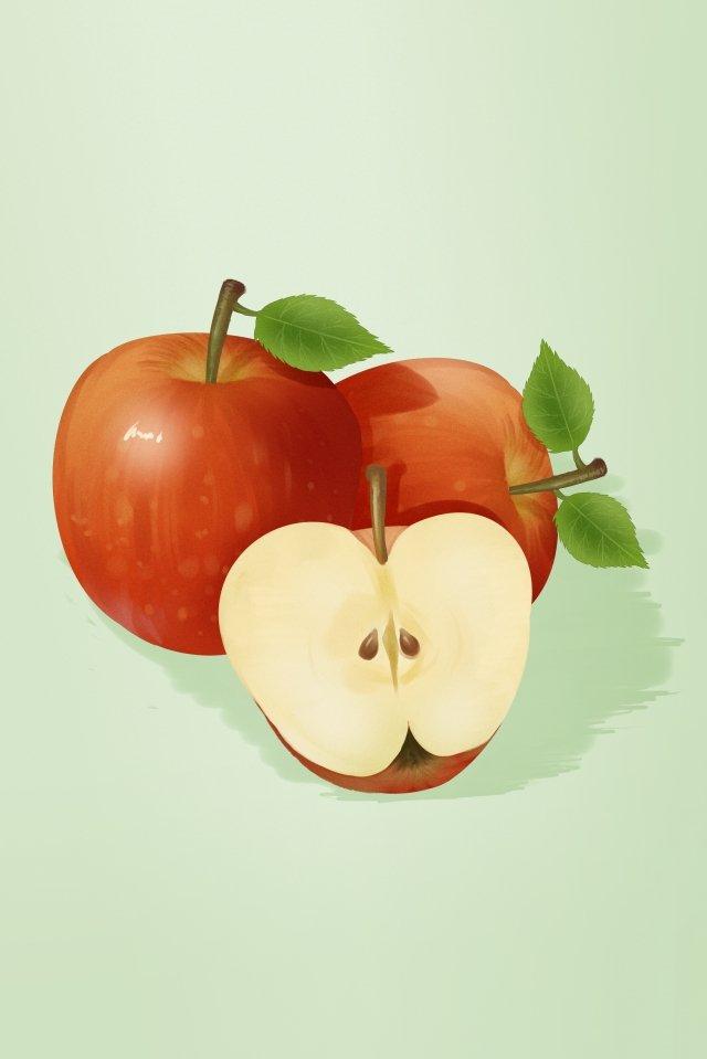 과일 야채 사과 레드 삽화 이미지
