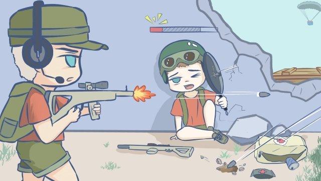 game eating chicken jedi survival supply, Shootout, Gaming, Game illustration image
