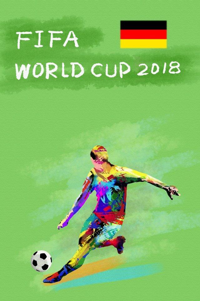 ドイツサッカーワールドカップ2018 イラスト素材