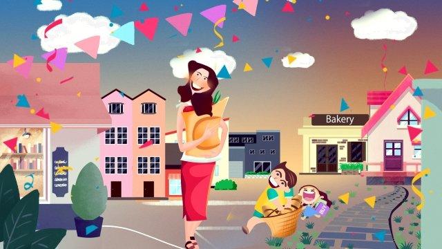 夏夏7月8月日本のミニマリスト  綺麗な  グループバイ PNGおよびPSD illustration image