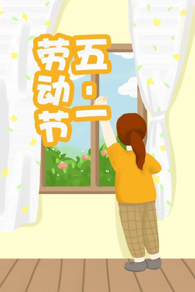 girl glass window wipe the window llustration image illustration image