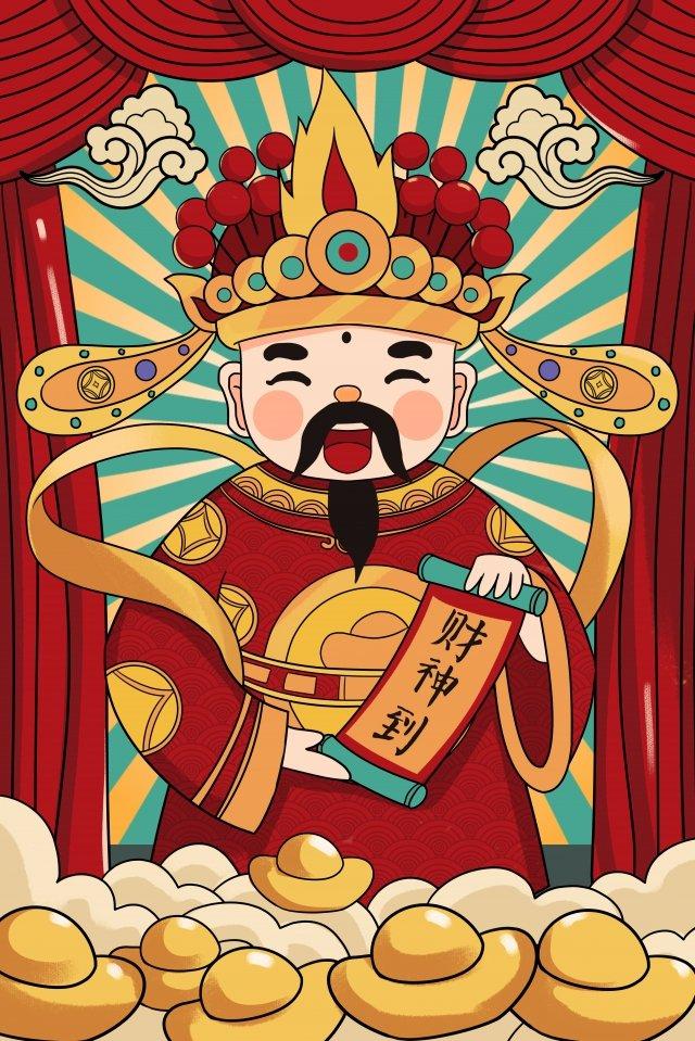 deus da riqueza deus da riqueza new years eve red Imagens de ilustração