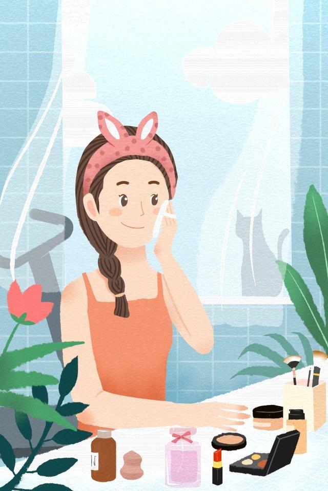 goddess festival womens day make up girl illustration image
