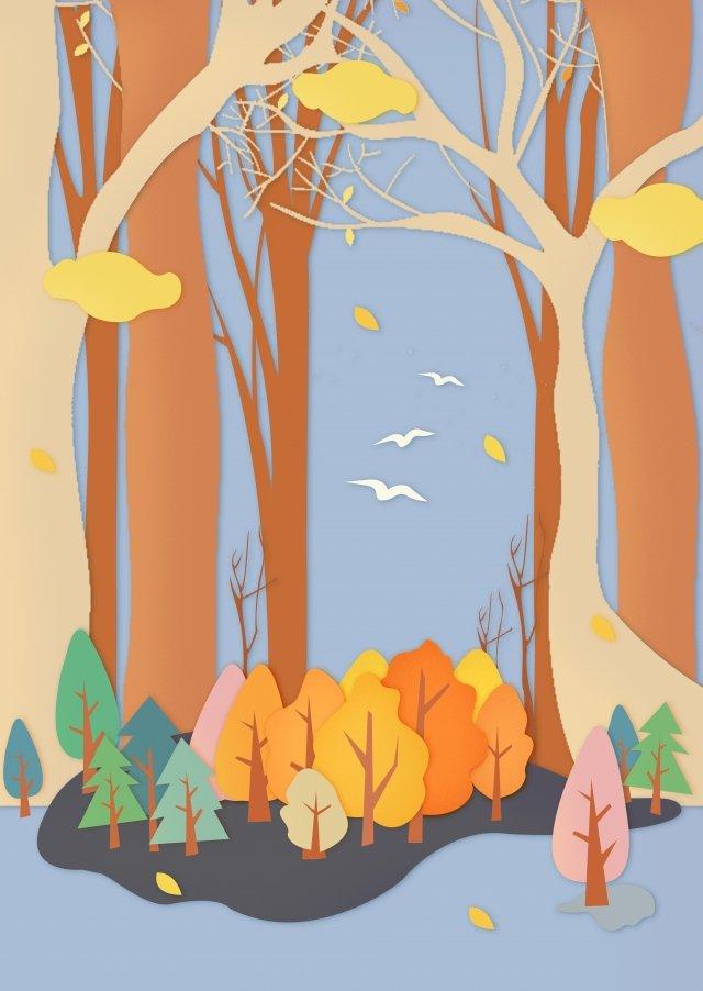 vàng bắt đầu cắt giấy mùa thu Hình minh họa Hình minh họa
