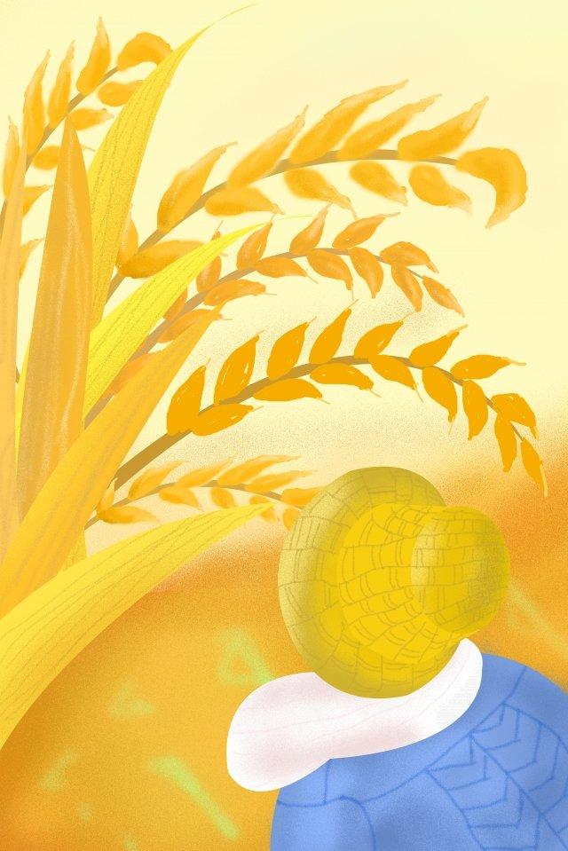 ゴールデン背景報酬小麦農家 イラスト素材 イラスト画像