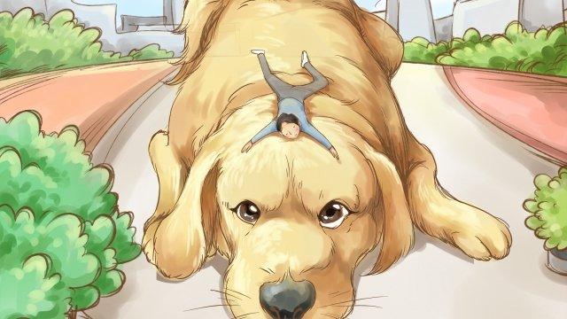 золотые волосы собака животное прекрасно Ресурсы иллюстрации Иллюстрация изображения