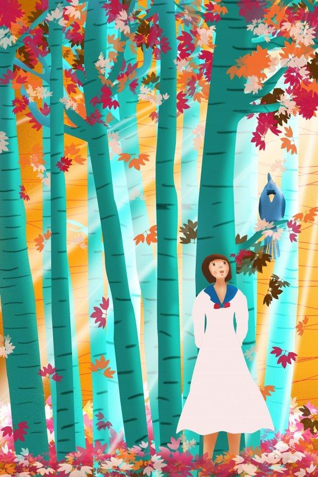 グラデーション秋イラスト24太陽条件秋の風景 イラスト素材