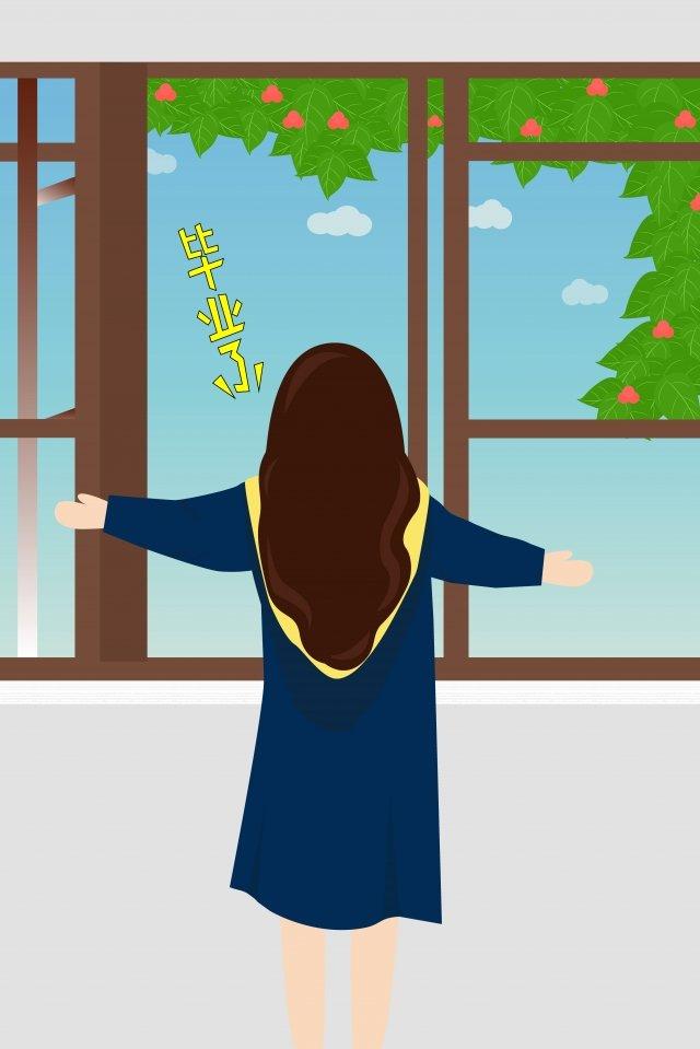 tốt nghiệp tốt nghiệp cửa sổ tạm biệt Hình minh họa