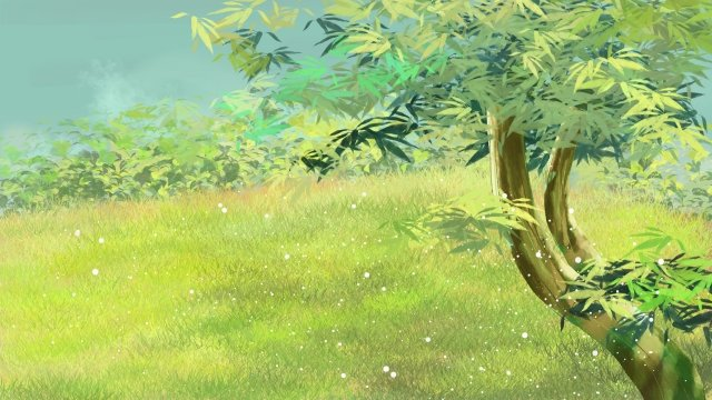 草原木緑美しい イラスト素材
