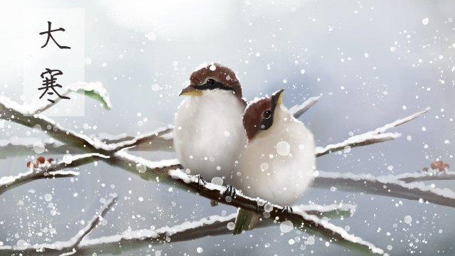 महान ठंडे डबल पक्षी एक दूसरे को गर्म करते हैं चित्रण छवि