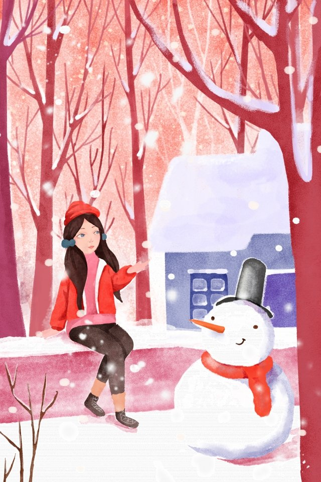 great cold illustration winter snowing illustration image