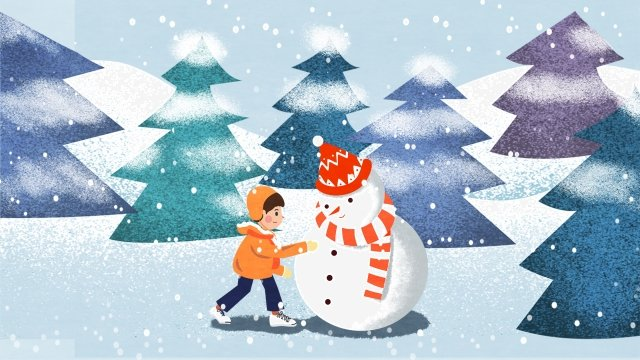 great cold snowy day make a snowman severe winter llustration image illustration image