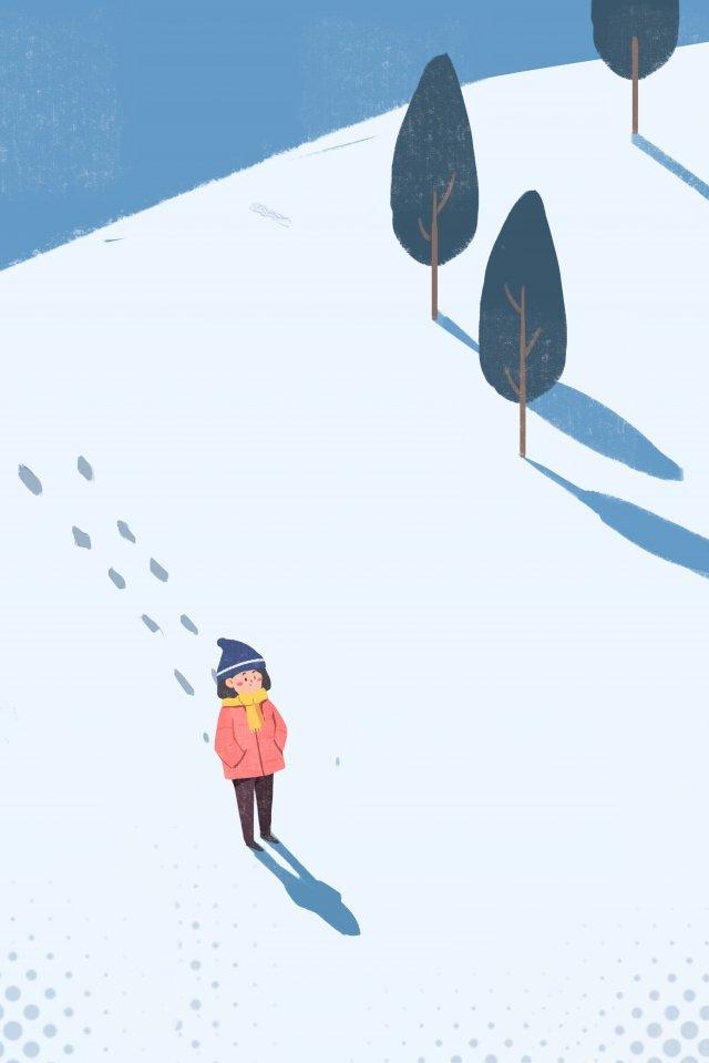 महान ठंड सौर शब्द ठंड कलात्मक गर्भाधान चित्रण छवि