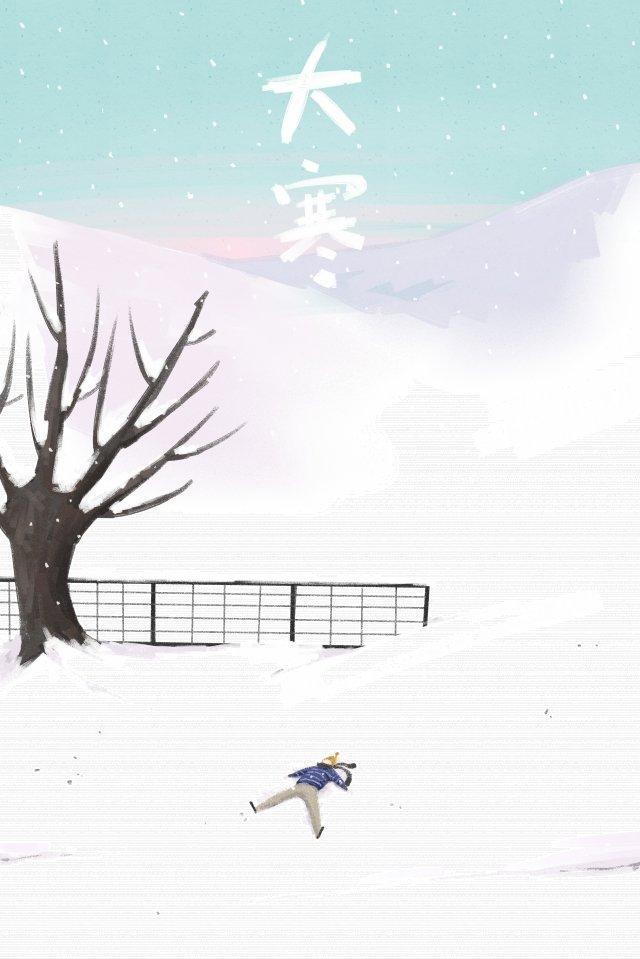 偉大的冷太陽能景觀冬季 插畫素材