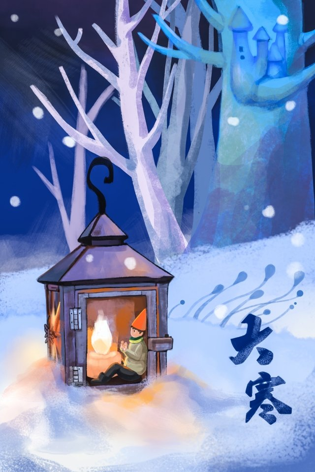 great cold winter candlestick warm llustration image