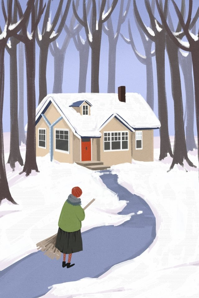 great cold winter snowing winter illustration image