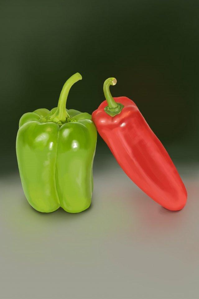 피망 칠리 채소 붉은 고추 삽화 소재